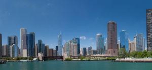 Vliegend door Chicago