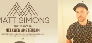 Win kaartjes voor Matt Simons in de Melkweg - Amerika.nl