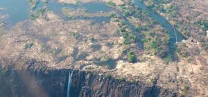 Van de Victoria Falls nog maar een straaltje over door extreme droogte